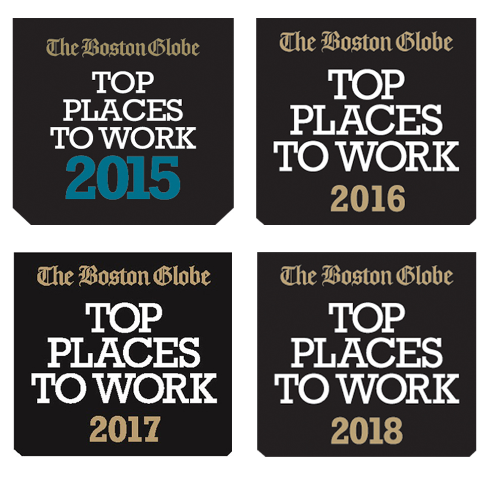 Top Places to Work award logo 2015-2018