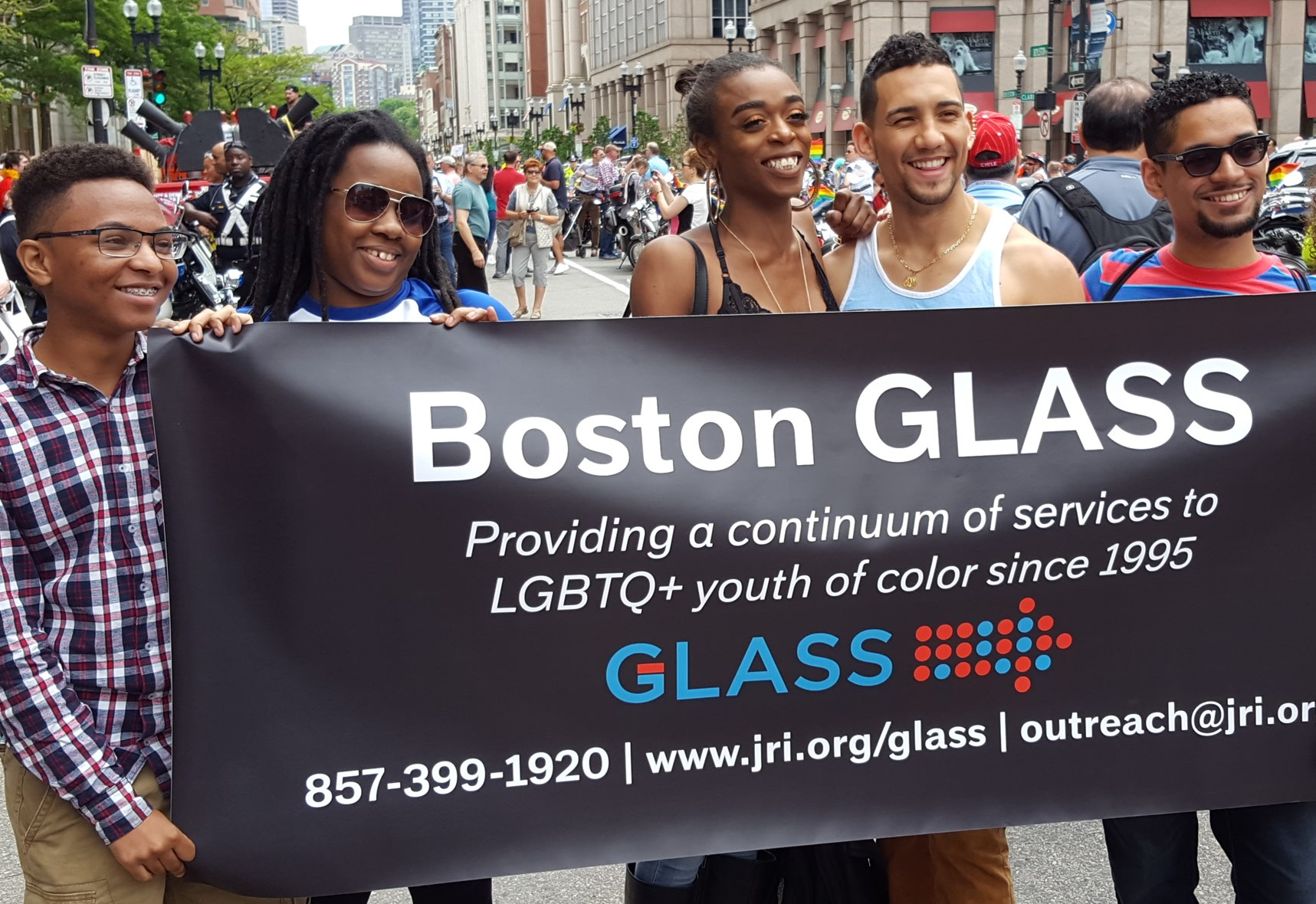 GLASS youth at Pride