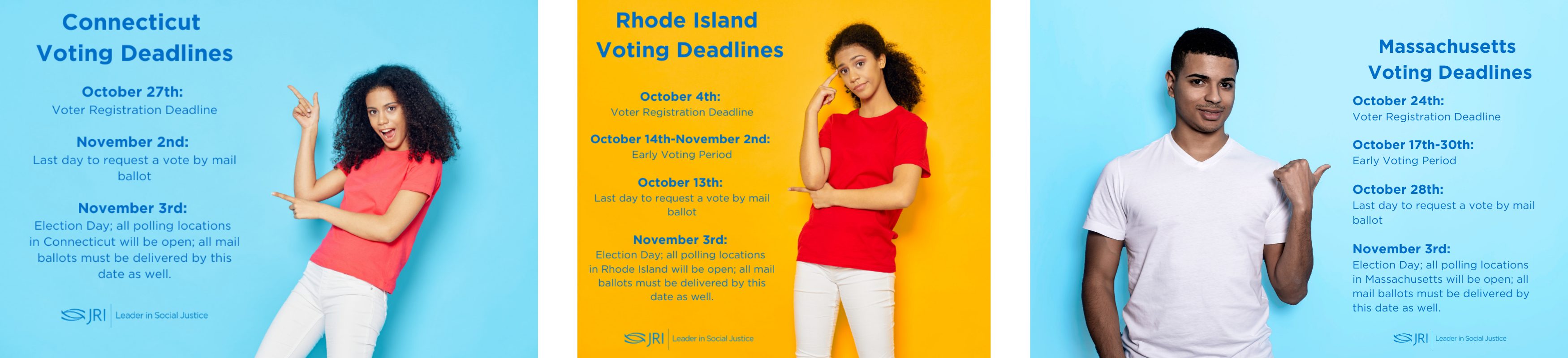 Voting Dates - MA, RI, CT