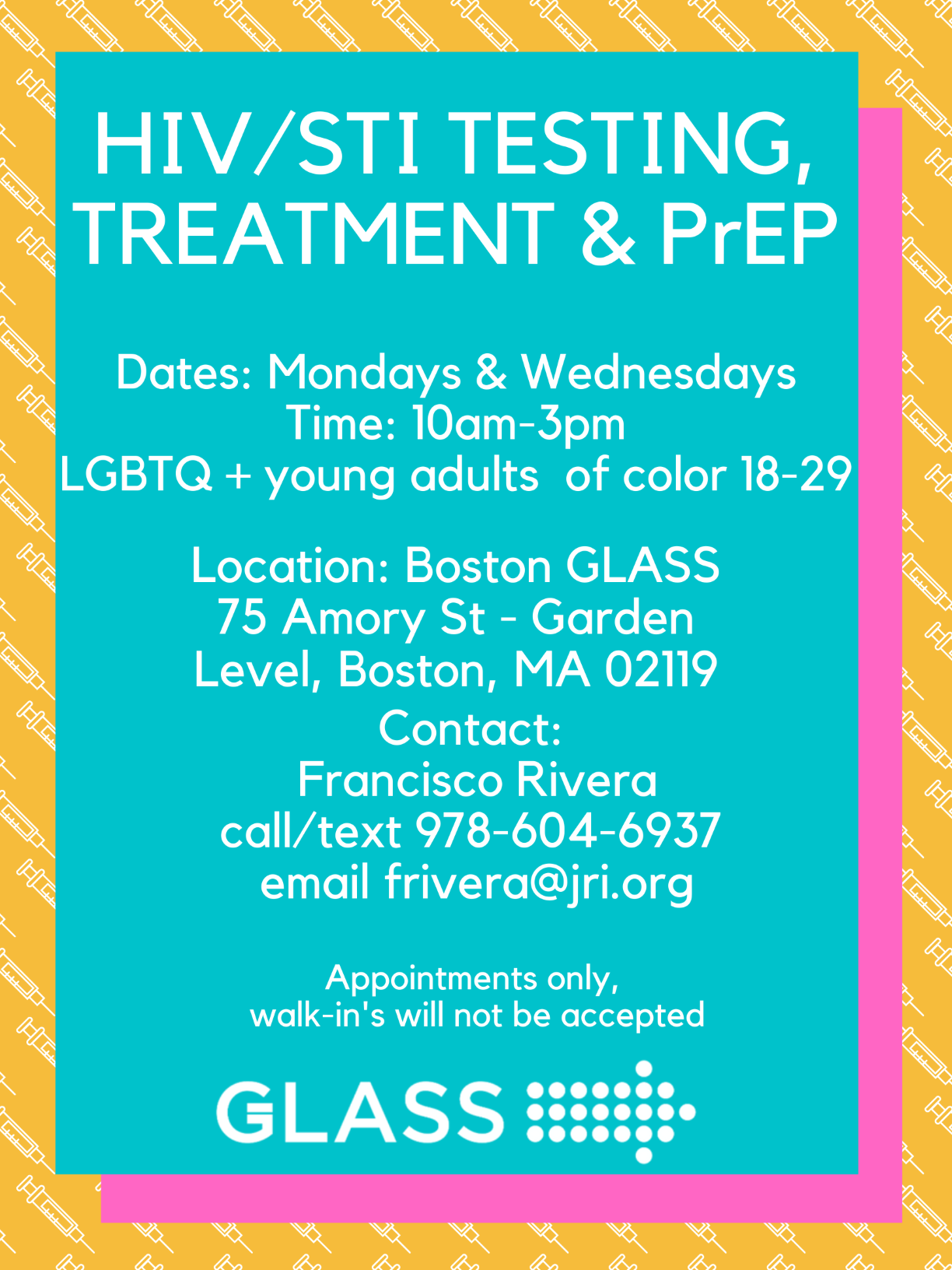HIV testing, treatment and PrEP