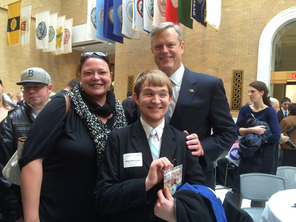 JRI Staff and Artist with Governor Baker