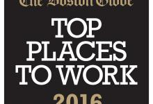 The Boston Globe Top Places to Work 2016 logo