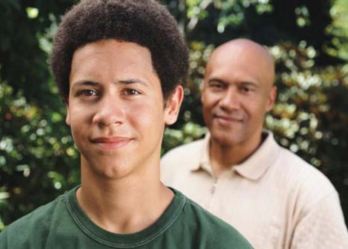 Parent with teen son